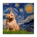 """""""Starry"""" in Starry Night Tile Coaster"""