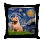 """""""Starry"""" in Starry Night Throw Pillow"""