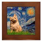 """""""Starry"""" in Starry Night Framed Tile"""