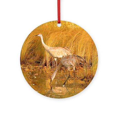 Sandhill Crane Ornament (Round)