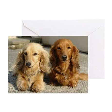 Doxie Pair Greeting Cards (Pk of 10)