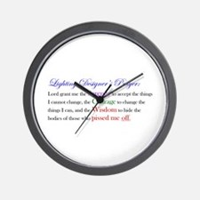 Light Designer Prayer Wall Clock