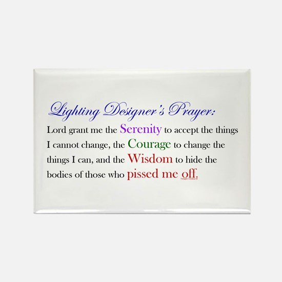 Light Designer Prayer Rectangle Magnet
