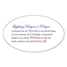 Light Designer Prayer Oval Decal