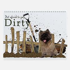 Cairn Terrier getting dirty Wall Calendar