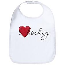 I Love Hockey Bib