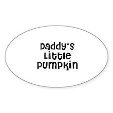 Daddy's Little Pumpkin Oval Decal