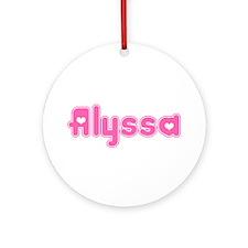 """Alyssa"" Ornament (Round)"