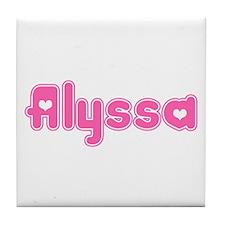 """Alyssa"" Tile Coaster"