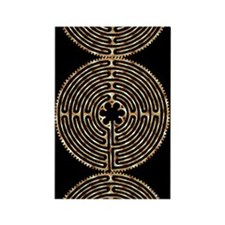 Chartres Labyrinth Pearl Rectangle Magnet (100 pac