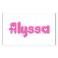 """Alyssa"" Rectangle Decal"