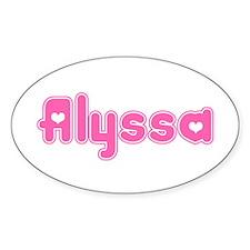 """Alyssa"" Oval Decal"