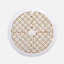 Chartres Labyrinth Pearl Ornament (Round)