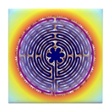 Chartres Labyrinth Pearl Tile Coaster
