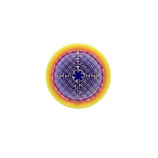 Chartres Labyrinth Pearl Mini Button (100 pack)