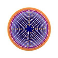"Chartres Labyrinth Pearl 3.5"" Button (100 pack)"