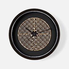 Chartres Labyrinth Pearl Wall Clock
