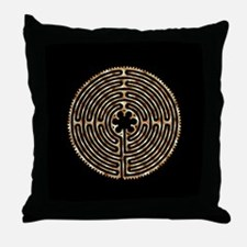 Chartres Labyrinth Pearl Throw Pillow