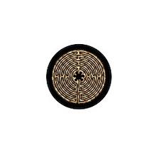 Chartres Labyrinth Pearl Mini Button