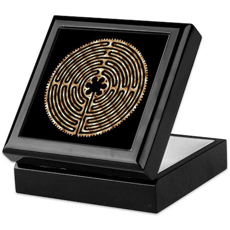 Chartres Labyrinth Pearl Keepsake Box
