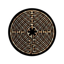 """Chartres Labyrinth Pearl 3.5"""" Button (100 pack)"""