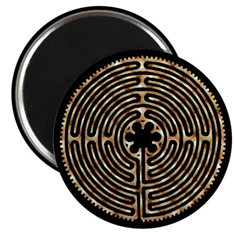 """Chartres Labyrinth Pearl 2.25"""" Magnet (10 pack)"""