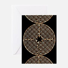 Chartres Labyrinth Pearl Greeting Card