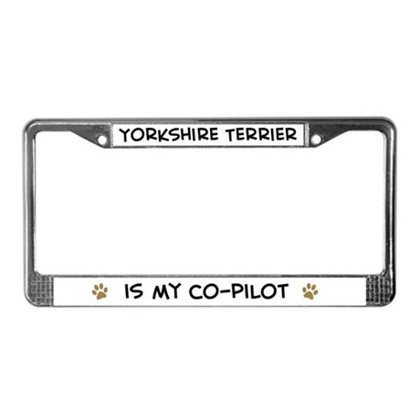 Co-Pilot: Yorkshire Terrier License Plate Frame