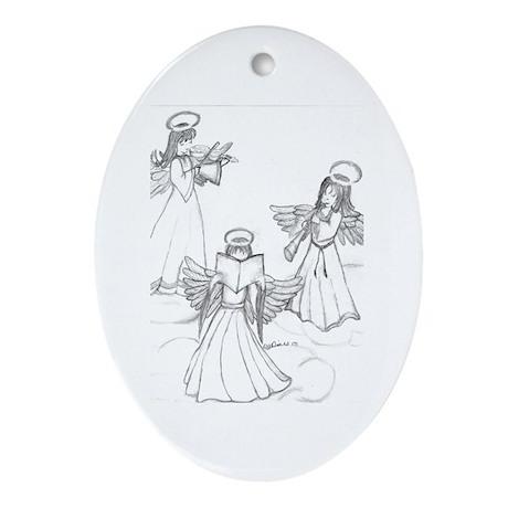 Christmas Choir Oval Ornament