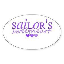 Sailor's sweetheart - purple Oval Decal