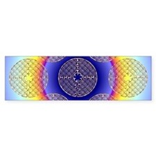 Chartres Labyrinth Pearl Bumper Stickers