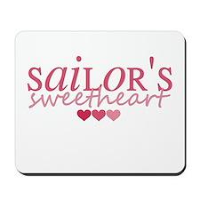 Sailor's sweetheart - pink Mousepad