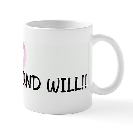 GOD CAN AND WILL!! pink ribbo Mug