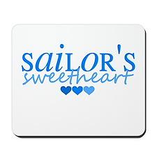Sailor's sweetheart - blue Mousepad