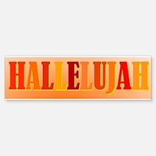 Hallelujah Bumper Bumper Bumper Sticker