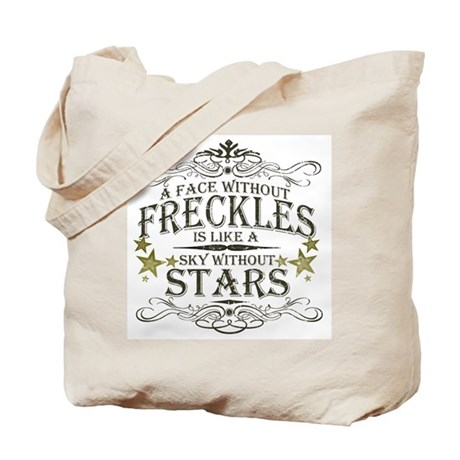 A Face Without Freckles Tote Bag