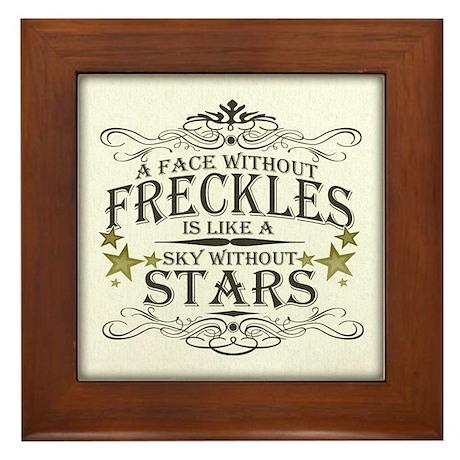 A Face Without Freckles Framed Tile