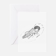 Sleeping Baby Angel Greeting Cards (Pk of 10)