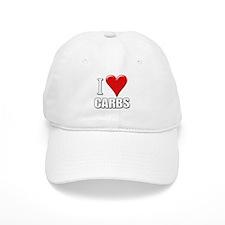 I Love (Heart) Carbs Baseball Cap (white)
