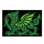 Midrealm Dragon Black Postcards (Package of 8)