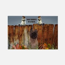 Cairn Terrier Squirrels Rectangle Magnet