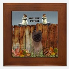 Cairn Terrier Squirrels Framed Tile