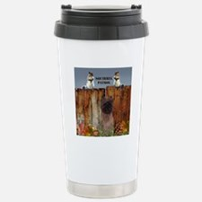 Cairn Terrier Squirrels Stainless Steel Travel Mug