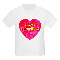 I Love Camellias Kids T-Shirt