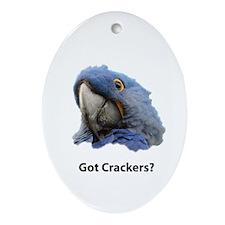 Got Crackers? Oval Ornament