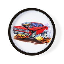 Roadrunner Red Car Wall Clock