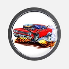 Roadrunner Red Car Wall Clock