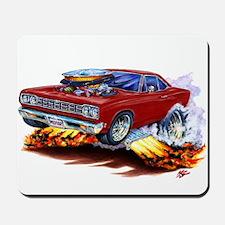 Roadrunner Maroon Car Mousepad