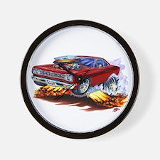 Roadrunner Maroon Car Wall Clock