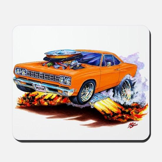 Roadrunner Orange Car Mousepad